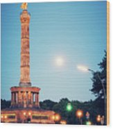 Berlin - Victory Column Wood Print