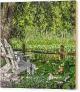 Beside The Pond Wood Print