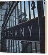Bethany Cemetery Wood Print