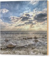 Birling Gap Angel Light Wood Print