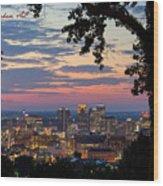 Birmingham Skyline Wood Print