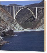 Bixby Creek Aka Rainbow Bridge Bridge Big Sur Photo  Wood Print