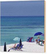 Blue Mountain Beach Wood Print