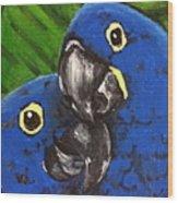 2 Blue Wood Print