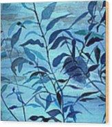 Blue on Blue Wood Print