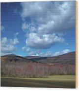 Blue Ridge Foothills Wood Print