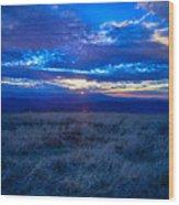 Blue Ridge Sunset Wood Print