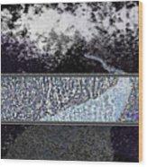 Blue Way Through Wood Print