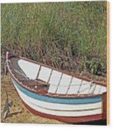 Boat And Anchor Wood Print