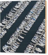 Boats In A Marina Wood Print by Don Mason