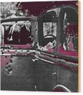 Bonnie And Clyde Death Car South Of Gibsland Toward Sailes Louisiana May 23 1933-2013 Wood Print