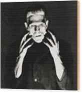 Boris Karloff As Frankenstein Wood Print