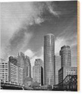 Boston Skyline 1980s Wood Print