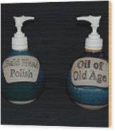 2 Bottles Wood Print