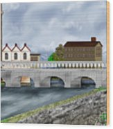 Bridge In Old Galway Ireland Wood Print