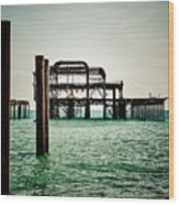 Brighton West Pier Wood Print
