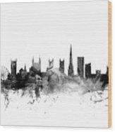 Bristol England Skyline Wood Print