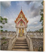 Buddhist Temple Wood Print by Adrian Evans