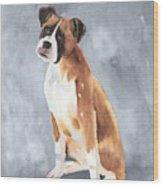 Buddy Wood Print by Arline Wagner