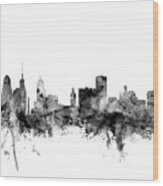 Buffalo New York Skyline Wood Print