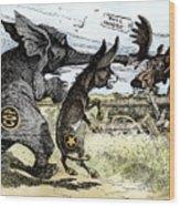 Bull Moose Campaign, 1912 Wood Print