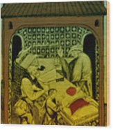 Butcher, Medieval Tradesman Wood Print