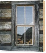 Cabin Window Wood Print