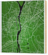 Cairo Street Map - Cairo Egypt Road Map Art On Colored Backgroun Wood Print