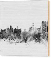Calcutta Kolkata India Skyline Wood Print