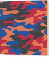 Camouflage Pattern Background Seamless Clothing Print, Repeatabl Wood Print