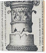 Capital And Base Of A Column Wood Print