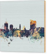 Cardiff Wales Skyline Wood Print