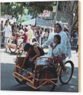 Carnival Cart Wood Print
