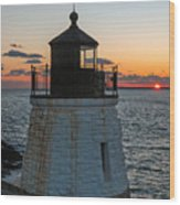 Castle Hill Light Newport Rhode Island Wood Print