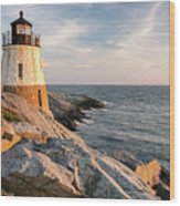 Castle Hill Lighthouse, Newport, Rhode Island Wood Print