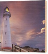 Castle Point Lighthouse Wood Print