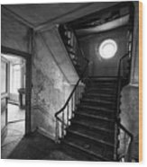 Castle Stairs - Abandoned Building Wood Print