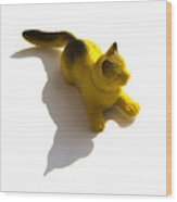 Cat Figurine Wood Print