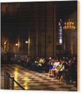 Cathedrale Notre Dame De Paris Wood Print