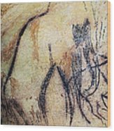 Cave Art: Mammoth Wood Print