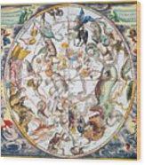 Celestial Planisphere, 1660 Wood Print