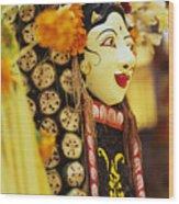 Ceremonial Mask Wood Print