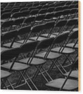 Chair Pattern Empty Seats Wood Print