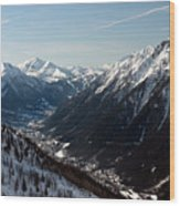 Chamonix Resort In The French Alps Wood Print