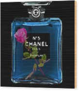 Chanel With Rose Wood Print