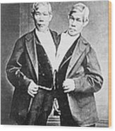 Chang And Eng, Siamese Twins Wood Print
