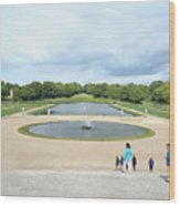 Chantilly Castle Garden In France Wood Print