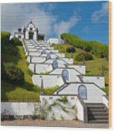 Chapel In Azores Islands Wood Print