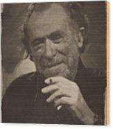 Charles Bukowski 2 Wood Print
