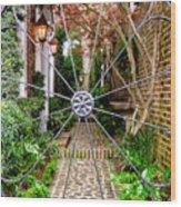 Charleston Gated Garden Wood Print